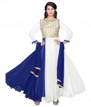 782306-Blue And White party were anarkali suit @ Rs988.00