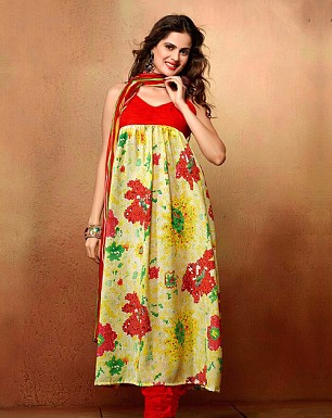 Designer Mix Cotton Salwar Suit Buy Rs.855.00