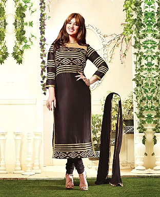 Embroidery Churidaar Cotton Suit With Dupatta@ Rs.647.00