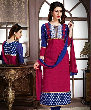 Cotton Embroidery Straight Suit With Duppta Buy Rs.647.00