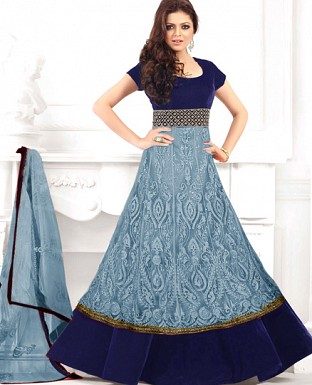 Drashti dhami letest grey flour length anarkali suit @ Rs1319.00