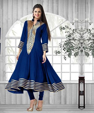 New Collection Of Latest Royal Blue Cotton Kurti @ Rs494.00