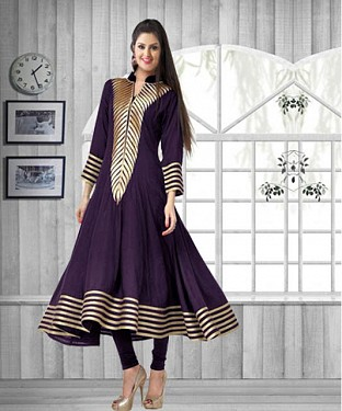 New Collection Of Latest Purple Cotton Kurti @ Rs494.00