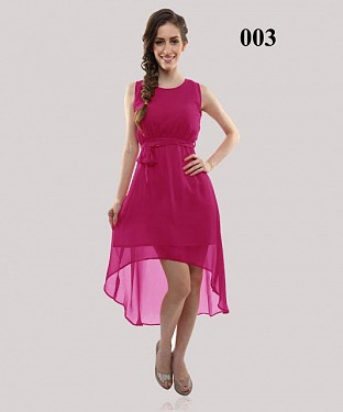 Dark Pink Georgette Casual Semi-stitched Kurti @ Rs555.00