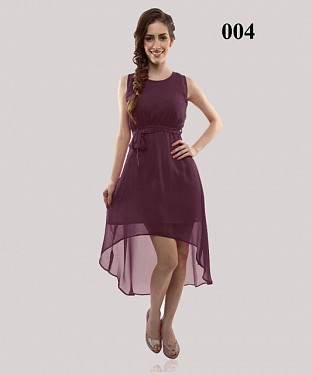 Dark Purple Casual Georgette Semi-stitched Kurti @ Rs555.00