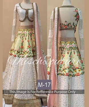 White Colour Designer Bridal Lehenga Choli @ Rs3461.00
