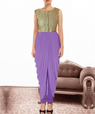 Purple Indian Kameez Dhoti Style@ Rs.864.00