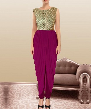 Pink Indian Kameez Dhoti Style @ Rs864.00