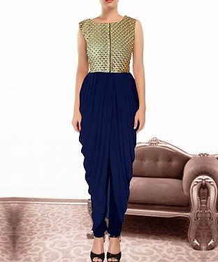 Blue Indian Kameez Dhoti Style@ Rs.864.00