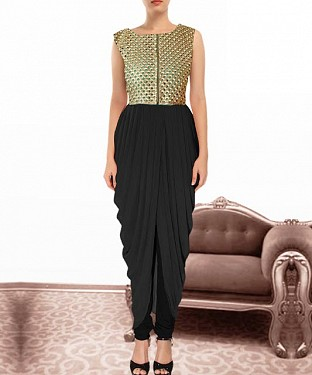 Black Indian Kameez Dhoti Style @ Rs864.00