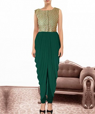 Green Indian Kameez Dhoti Style@ Rs.864.00
