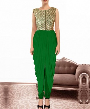 Green Indian Kameez Dhoti Style @ Rs864.00
