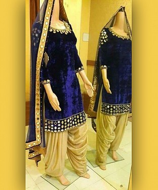 Lady Fashion Villa blue designer salwar suit @ Rs1113.00