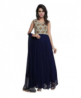 Lady Fashion Villa blue designer salwar suit @ Rs1212.00