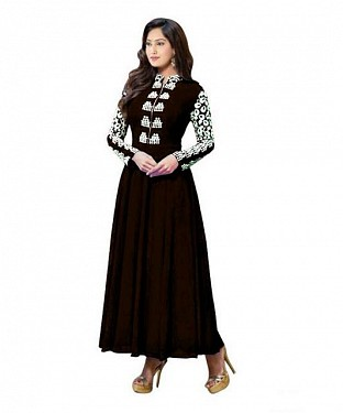 Lady Fashion Villa brown designer salwar suit @ Rs1057.00
