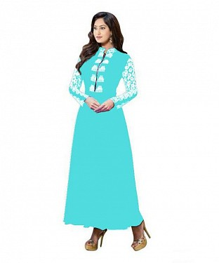 Lady Fashion Villa sky blue designer salwar suit @ Rs1057.00
