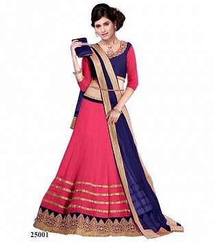 Lady Fashion Villa pink designer salwar suit @ Rs680.00
