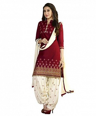 Lady Fashion Villa red designer salwar suit @ Rs927.00