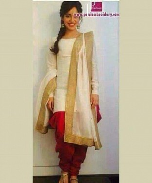 Lady Fashion Villa white designer salwar suit @ Rs866.00