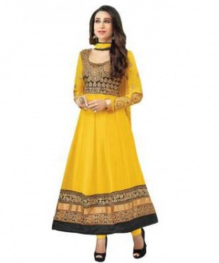 Lady Fashion Villa yellow designer salwar suit @ Rs1112.00