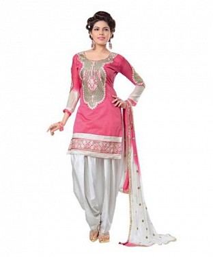 Lady Fashion Villa pink designer salwar suit @ Rs829.00