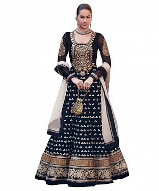 Lady Fashion Villa black designer salwar suit @ Rs1050.00