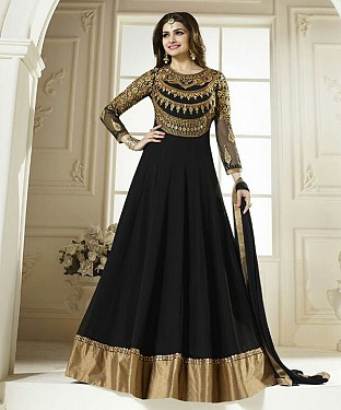 Lady Fashion Villa black designer salwar suit@ Rs.1076.00