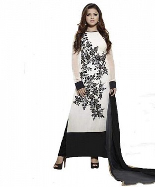 Lady Fashion Villa white designer salwar suit @ Rs976.00