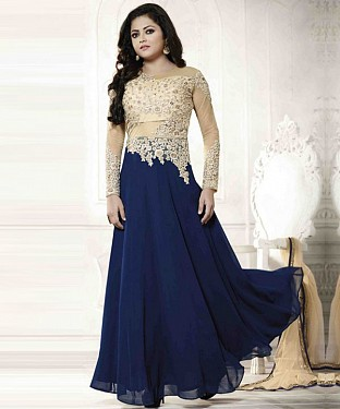 Lady Fashion Villa blue designer salwar suit@ Rs.1076.00