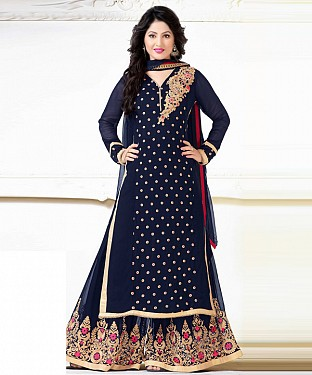 Lady Fashion Villa blue designer salwar suit@ Rs.1112.00
