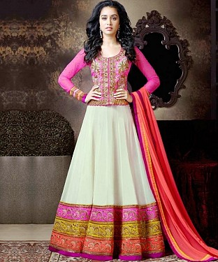 Lady Fashion Villa white designer salwar suit @ Rs1175.00
