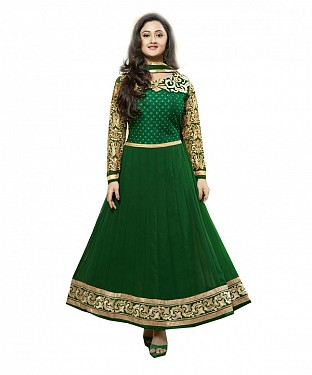 Lady Fashion Villa green designer salwar suit@ Rs.1112.00