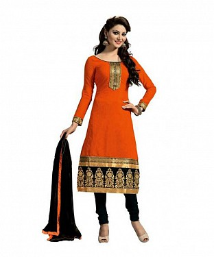 Lady Fashion Villa orange designer salwar suit @ Rs804.00