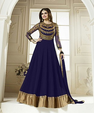 Lady Fashion Villa blue designer salwar suit@ Rs.1099.00