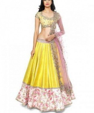 Lady Fashion Villa yellow designer salwar suit @ Rs1161.00