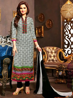 Cotton Salwar Suit with Dupatta @ Rs1029.00
