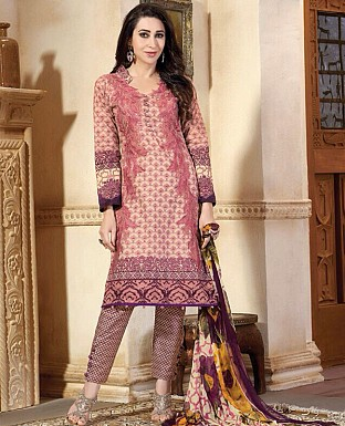 Embroidered Karachi Style Semi Lawn Suit Buy Rs.2059.00