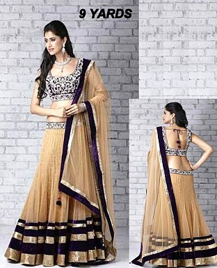 9 YARDS LEHENGA @ Rs3647.00