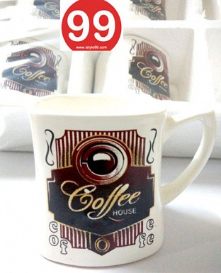 High Quality Light Wgt Bone China Tea Cups Coffee Mug- Set of 6psc @ Rs330.00