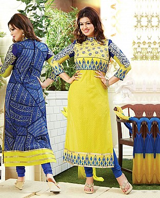 Embroidery Churidaar Cotton Suit With Dupatta Buy Rs.711.00