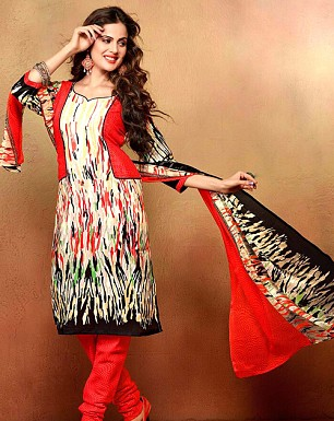Designer Mix Cotton Salwar Suit @ Rs349.00