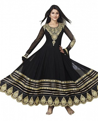 New Fancy Beautifull Black Color Anarkali Suit @ Rs1533.00