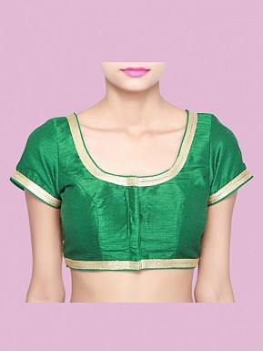 Green Designer Blouse Material @ Rs371.00