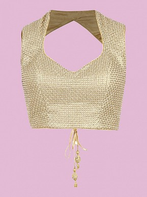 Gold Designer Blouse Material @ Rs495.00