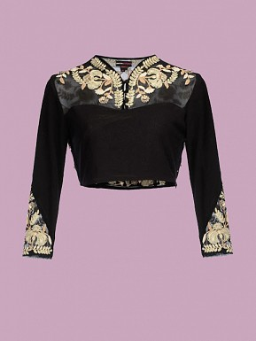 Black Designer Blouse Material @ Rs495.00