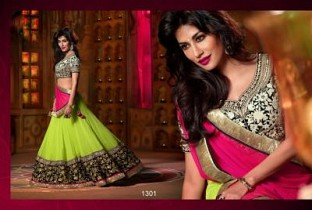 Hanny Parrot And Pink Designer Lehenga @ Rs1112.00