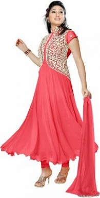 Beautifull Fancy peach With white Anarkali suit @ Rs576.00
