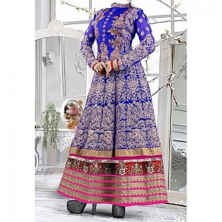 Beautiful blue color heavy embroidred anarkali suit @ Rs1586.00