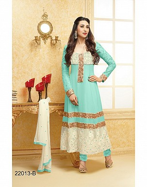 karishma sky blue anarkali salwar suit @ Rs1579.00