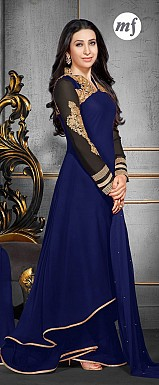 Karishma Blue Plazo Style Anarkali Salwar Suit @ Rs1724.00